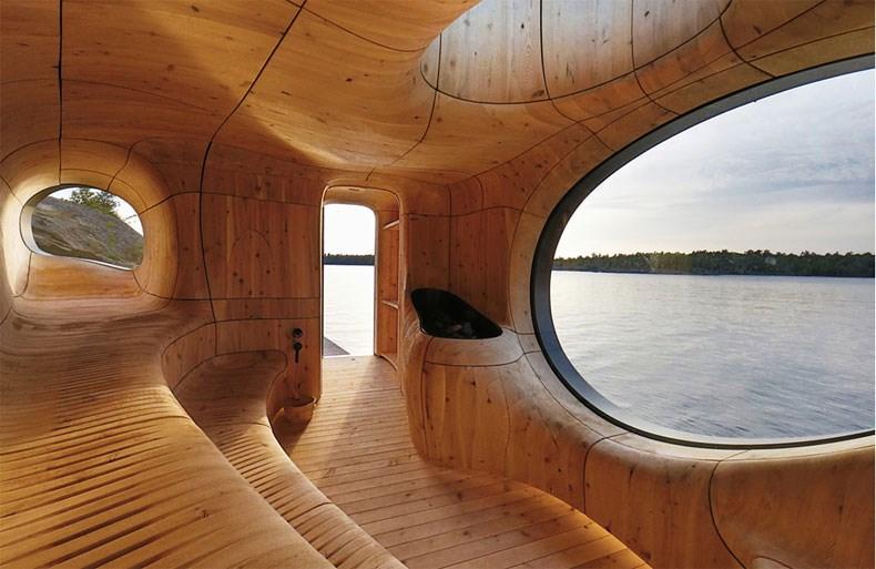 加拿大Bernyk 群岛石窟桑拿房设计4