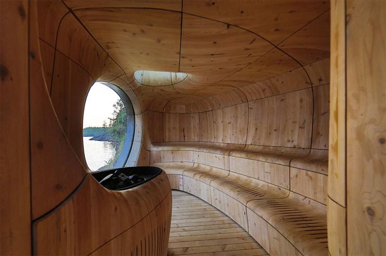 加拿大Bernyk 群岛石窟桑拿房设计5