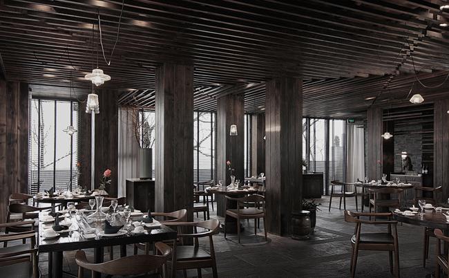 葫芦岛食屋私人餐厅设计21