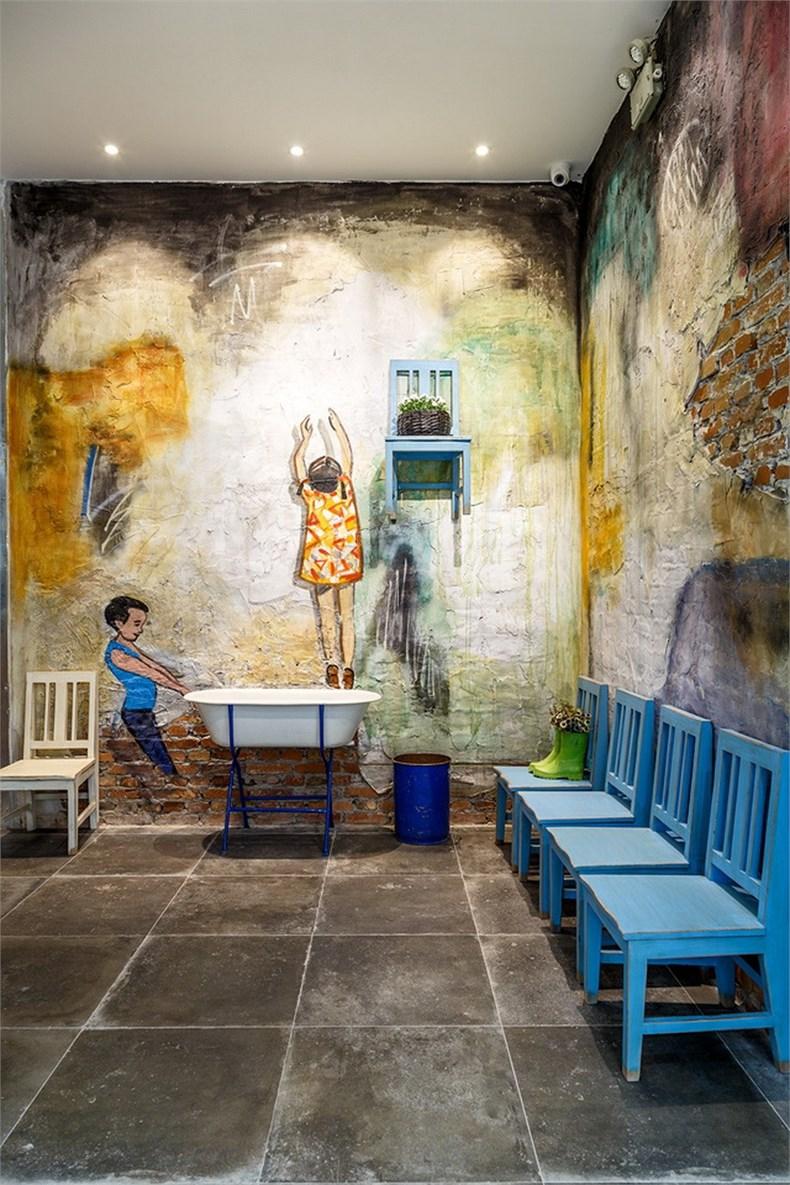 小珺柑餐厅 壁画展示