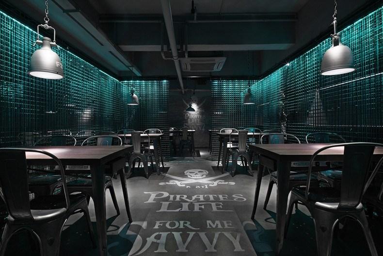 海盗鲜生餐厅设计 整体效果展示