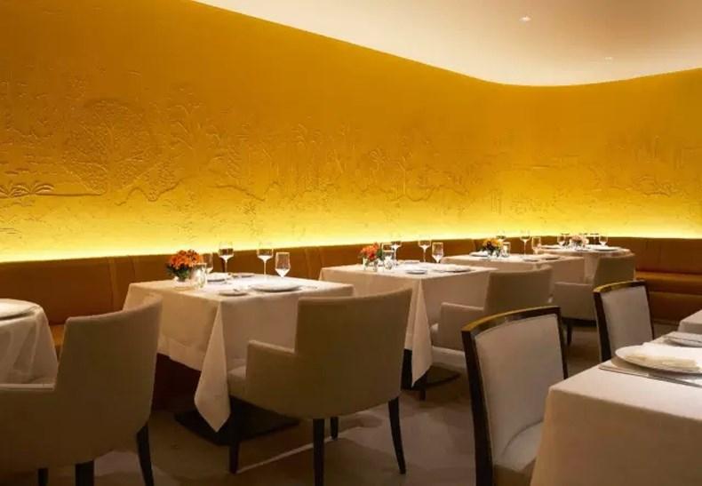 纽约半岛酒店CLEMENT餐厅 黄色墙壁