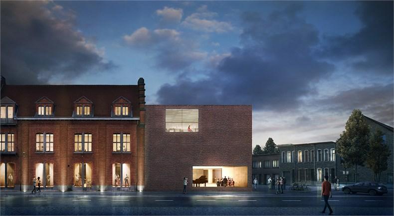 卡恩建筑赢得阿尔斯特表演艺术图书馆及学院项目-01