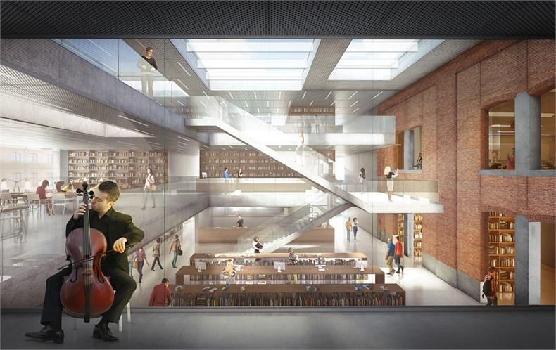 卡恩建筑赢得阿尔斯特表演艺术图书馆及学院项-04