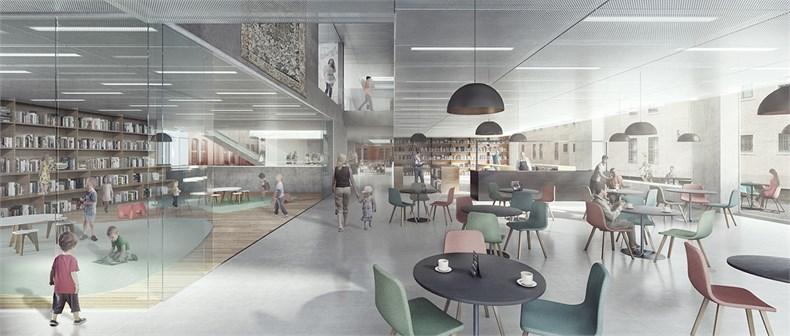 卡恩建筑赢得阿尔斯特表演艺术图书馆及学院项-05