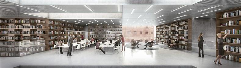 卡恩建筑赢得阿尔斯特表演艺术图书馆及学院项-06