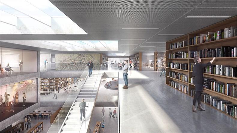 卡恩建筑赢得阿尔斯特表演艺术图书馆及学院项-08
