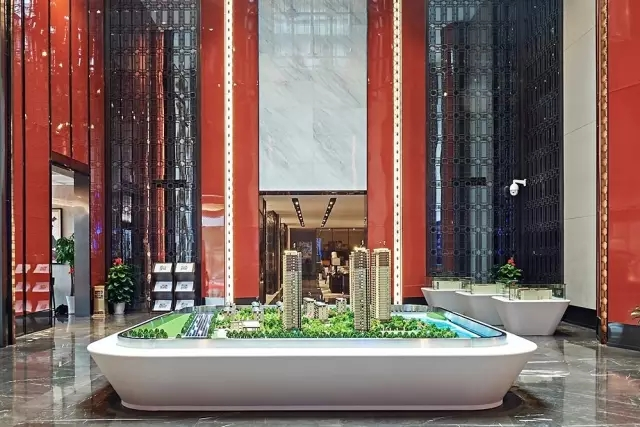 Andy Leung:新中式主义南京蓝光公园售楼处室内设计-04