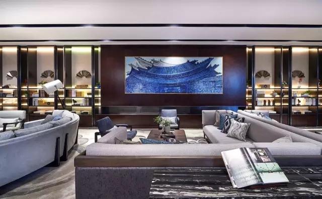 Andy Leung:新中式主义南京蓝光公园售楼处室内设计-11
