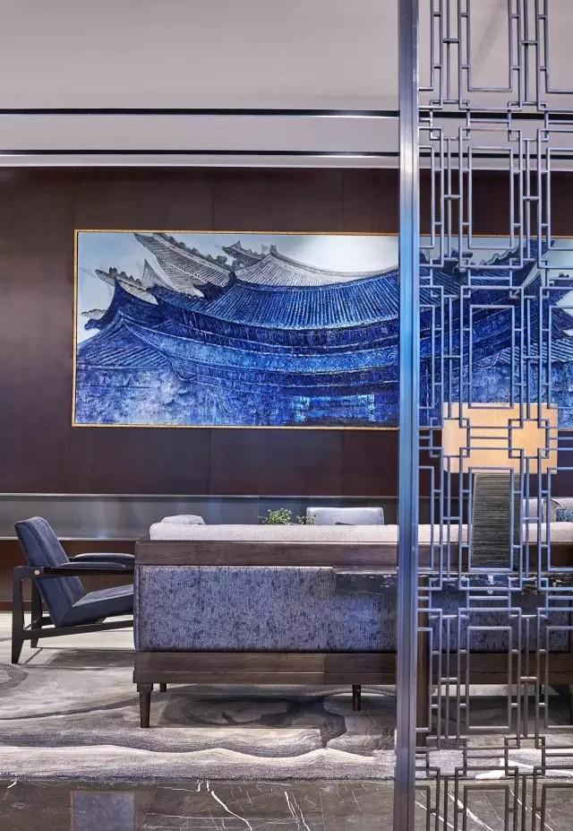 Andy Leung:新中式主义南京蓝光公园售楼处室内设计-13