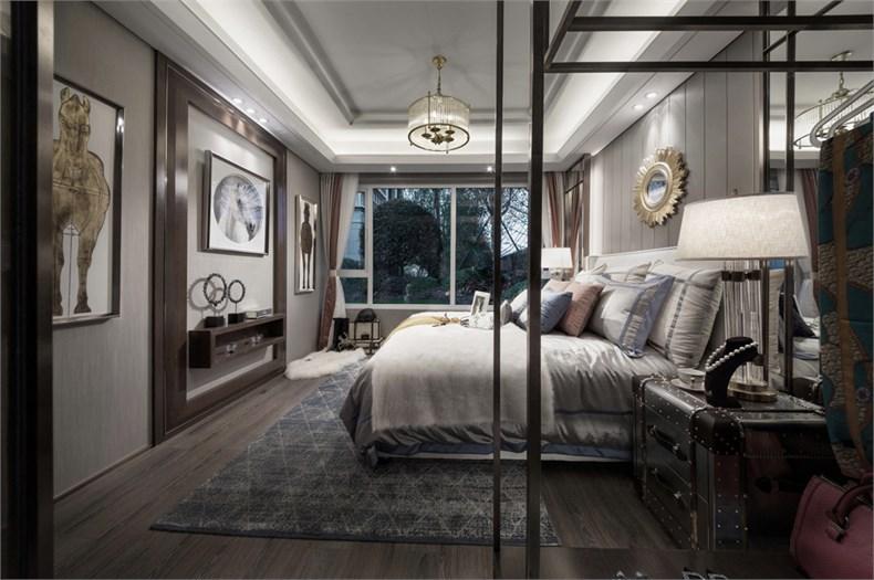 艾迪尔设计:皇冠湖壹号现代奢华样板间-13