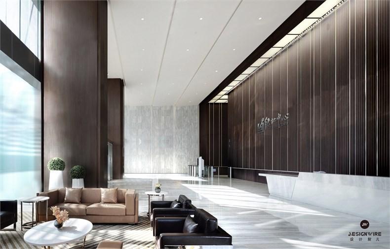黄全:绿地集团三个高端办公楼室内设计-09
