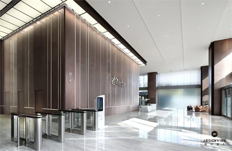 黄全:绿地集团三个高端办公楼室内设计-11