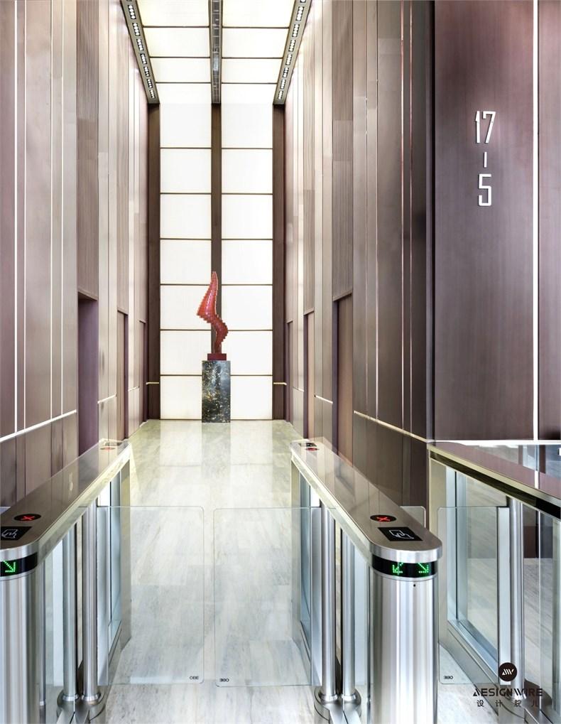 黄全:绿地集团三个高端办公楼室内设计-14