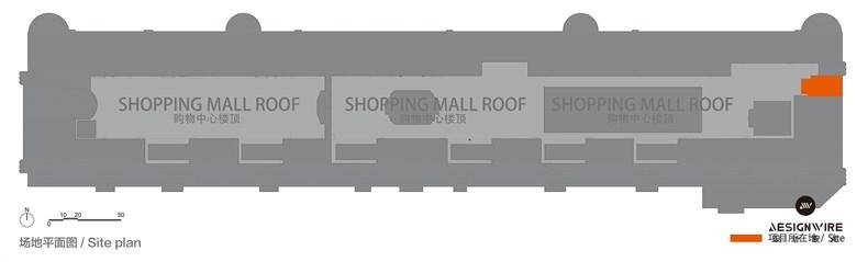 购物中心顶层休闲空间设计平面图和立面图00.jpg