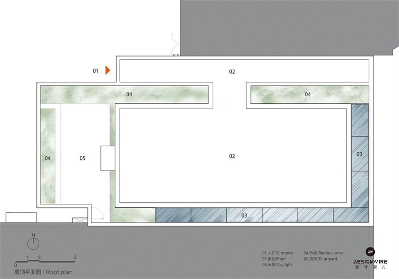 购物中心顶层休闲空间设计平面图和立面图02.jpg