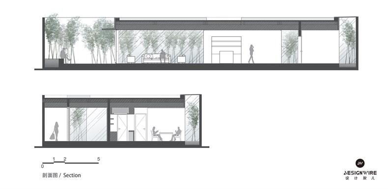 购物中心顶层休闲空间设计平面图和立面图03.jpg