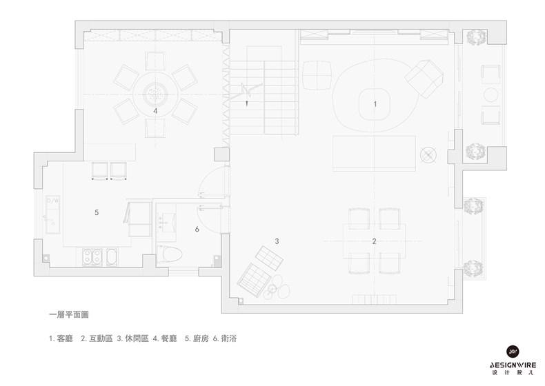 """福州现代""""黑色幽默""""住宅平面图01.jpg"""