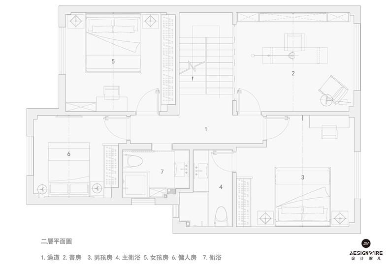 """福州现代""""黑色幽默""""住宅平面图02.jpg"""