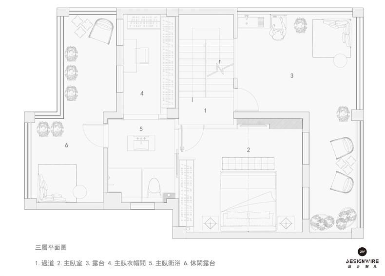 """福州现代""""黑色幽默""""住宅平面图03.jpg"""