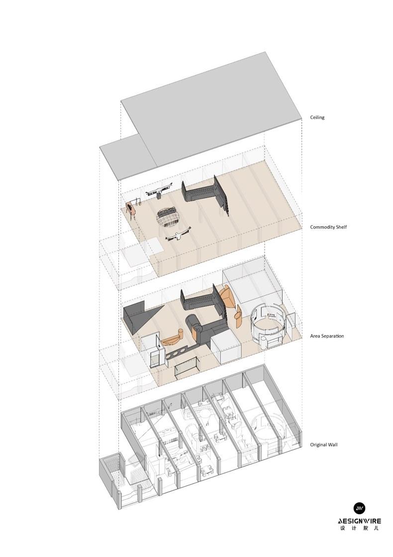 叶梹室内设计:杭州CHOCLAB潮牌店设计-34