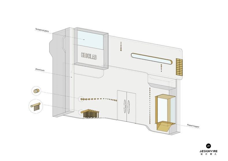 叶梹室内设计:杭州CHOCLAB潮牌店设计-32