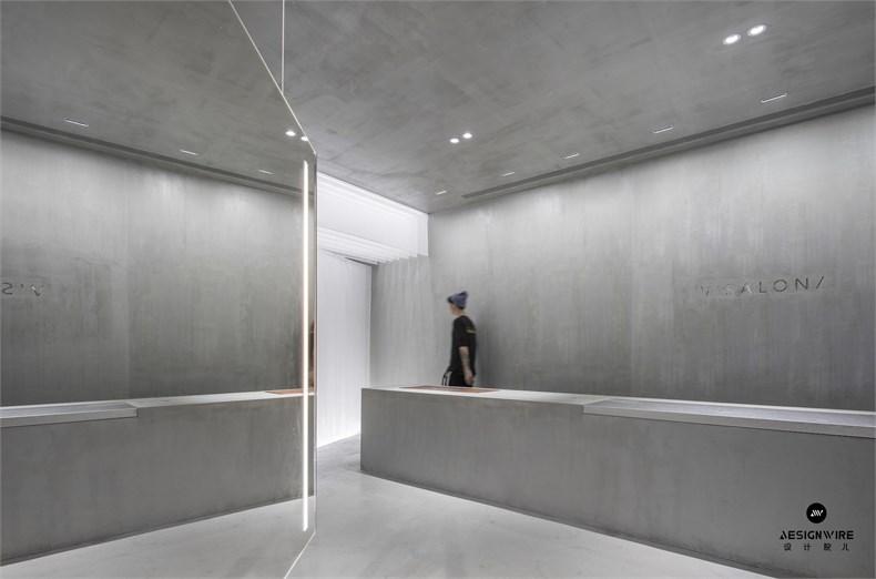 尔我空间设计:临时迷镜南京理发店设计-2