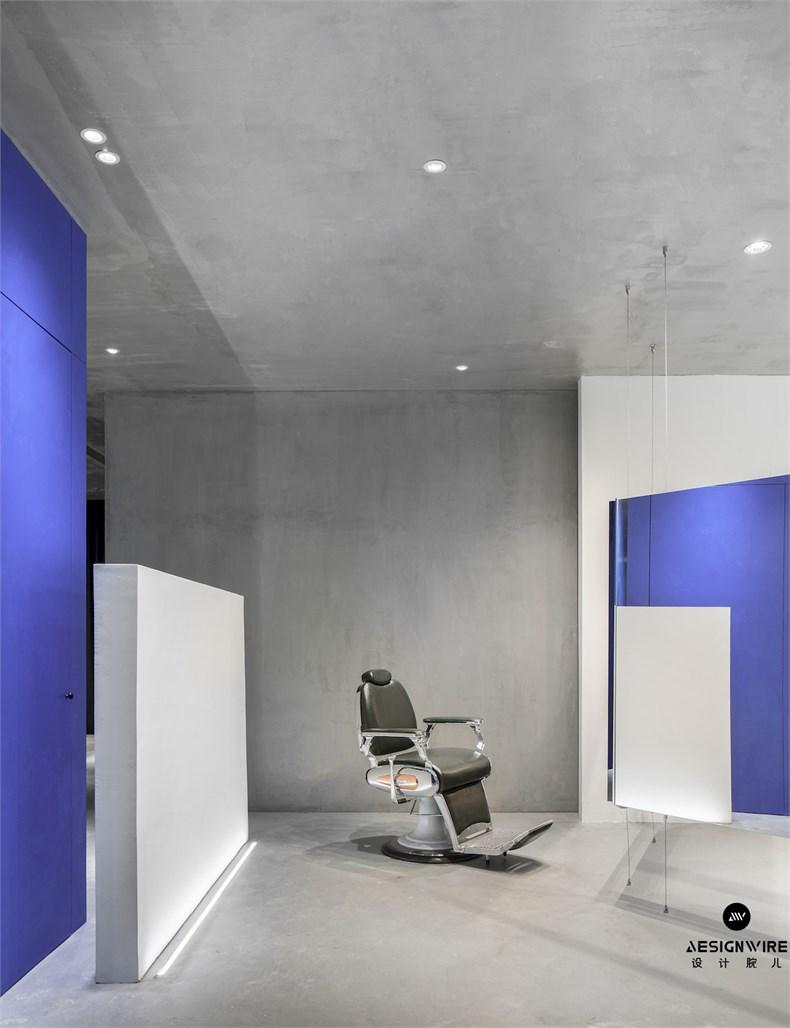 尔我空间设计:临时迷镜南京理发店设计6