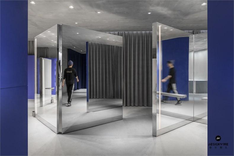 尔我空间设计:临时迷镜南京理发店设计-9