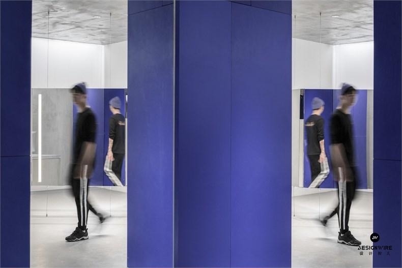 尔我空间设计:临时迷镜南京理发店设计-12