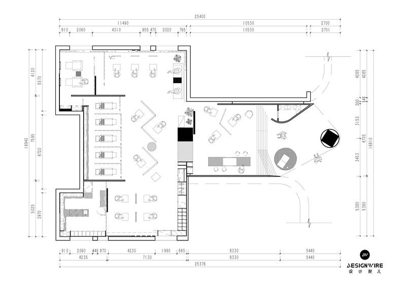 尔我空间设计:临时迷镜南京理发店设计-16