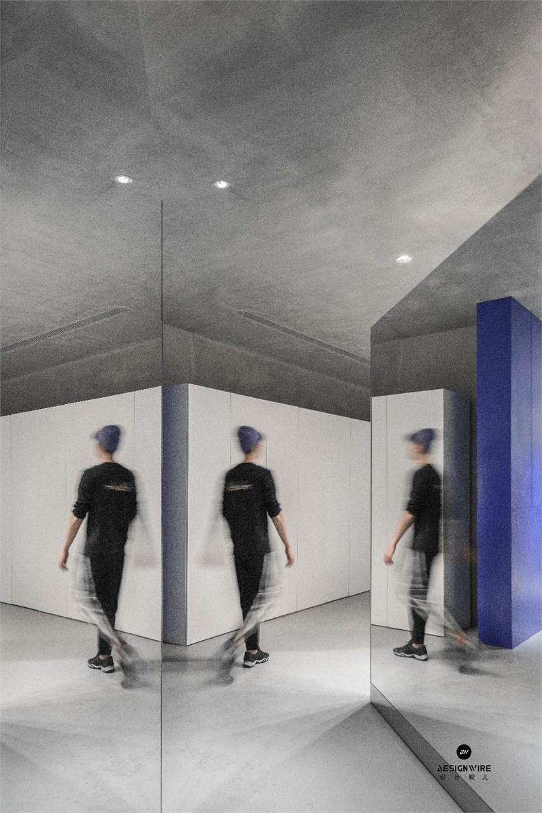 尔我空间设计:临时迷镜南京理发店设计-11